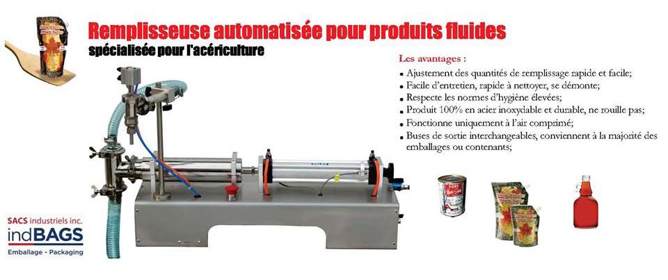Remplisseuse automatisée pour produits fluides